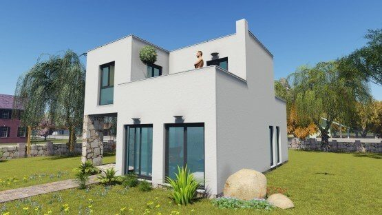 προκάτ, διώροφο,προκατασκευασμένο,σπίτι,bauhaus,easygreen,prokat