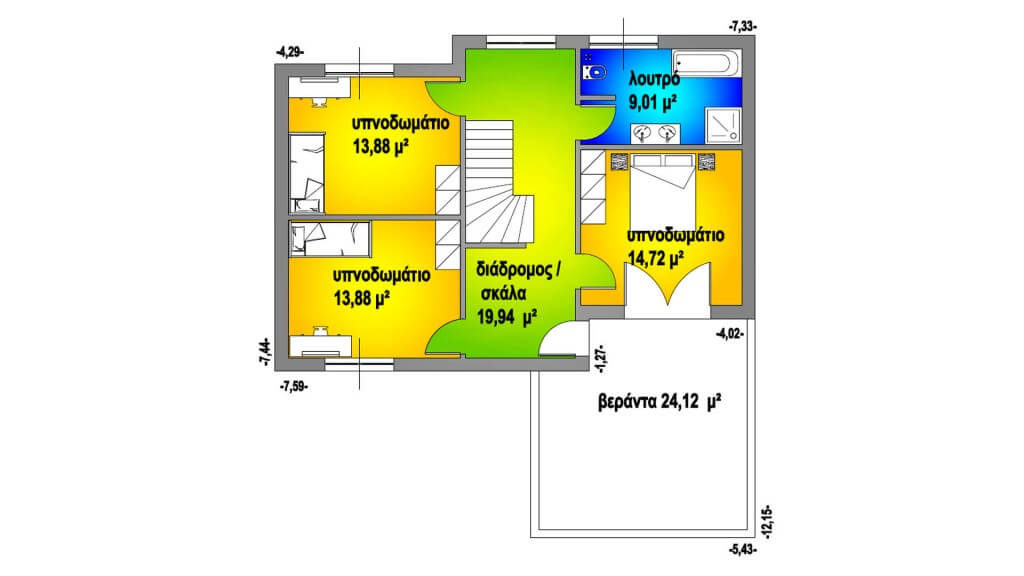 ΚΑΤΟΨΗ ΟΡΟΦΟΥ 86,29 Μ²