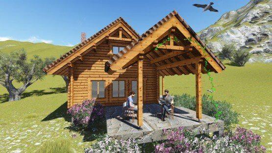 ξύλινο,προκάτ,προκατασκευασμένο,σπίτι,σαλέ,easy green, prokat,εξωχικό