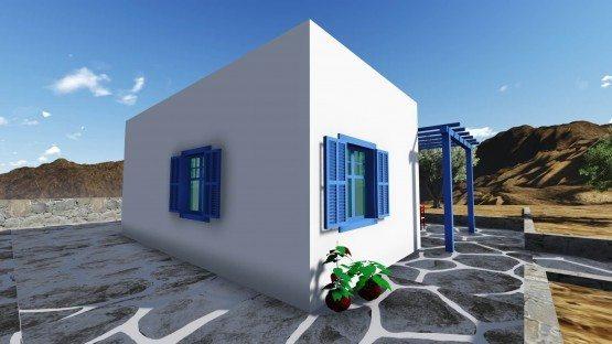σχέδιο,σπίτι,προκάτ,εξοχικό,νησιώτικο,easy green,μικρό,ισόγειο,prokat