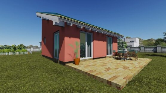 προκατασκευασμένα σπίτια, prokat, προκάτ, σπίτι, φωτοβολταϊκά, easy green, ισόγειο