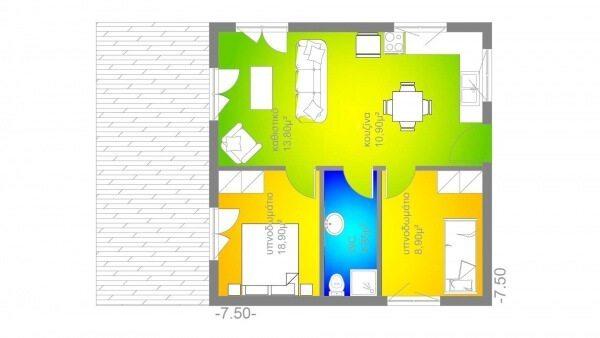 προκατασκευασμένα σπίτια, prokat, προκάτ, σπίτι, easy green, ισόγειο