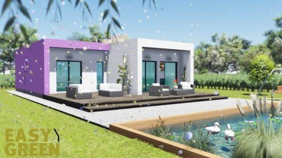 Prisma 100 ,prokat, προκάτ, προκατασκευασμένο σπίτι, easy green, ισόγειο, bauhaus