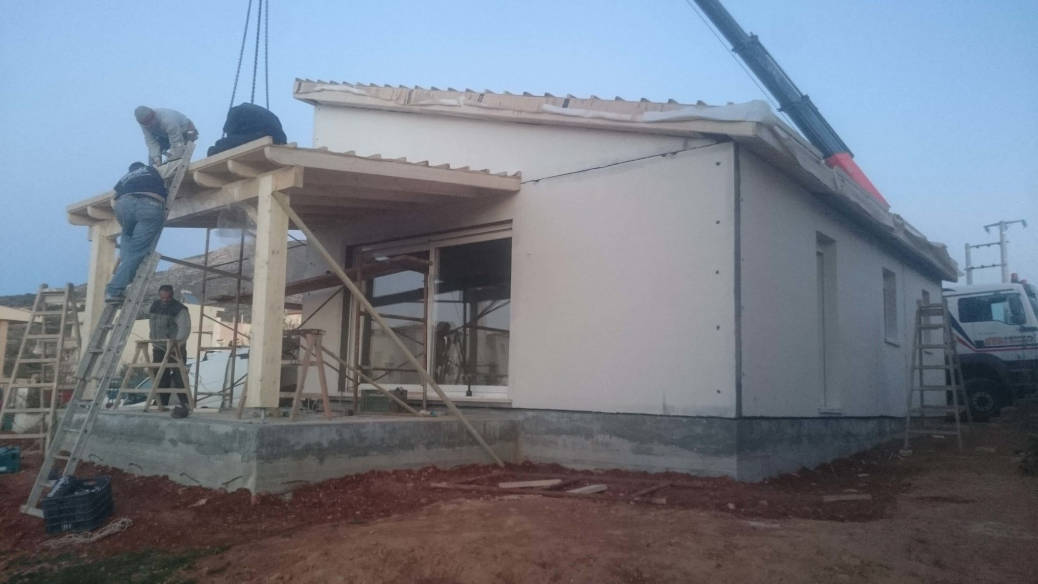PREFABRICATED RESIDENCE CONSTRUCTION AT KALIVIA THORIKOU