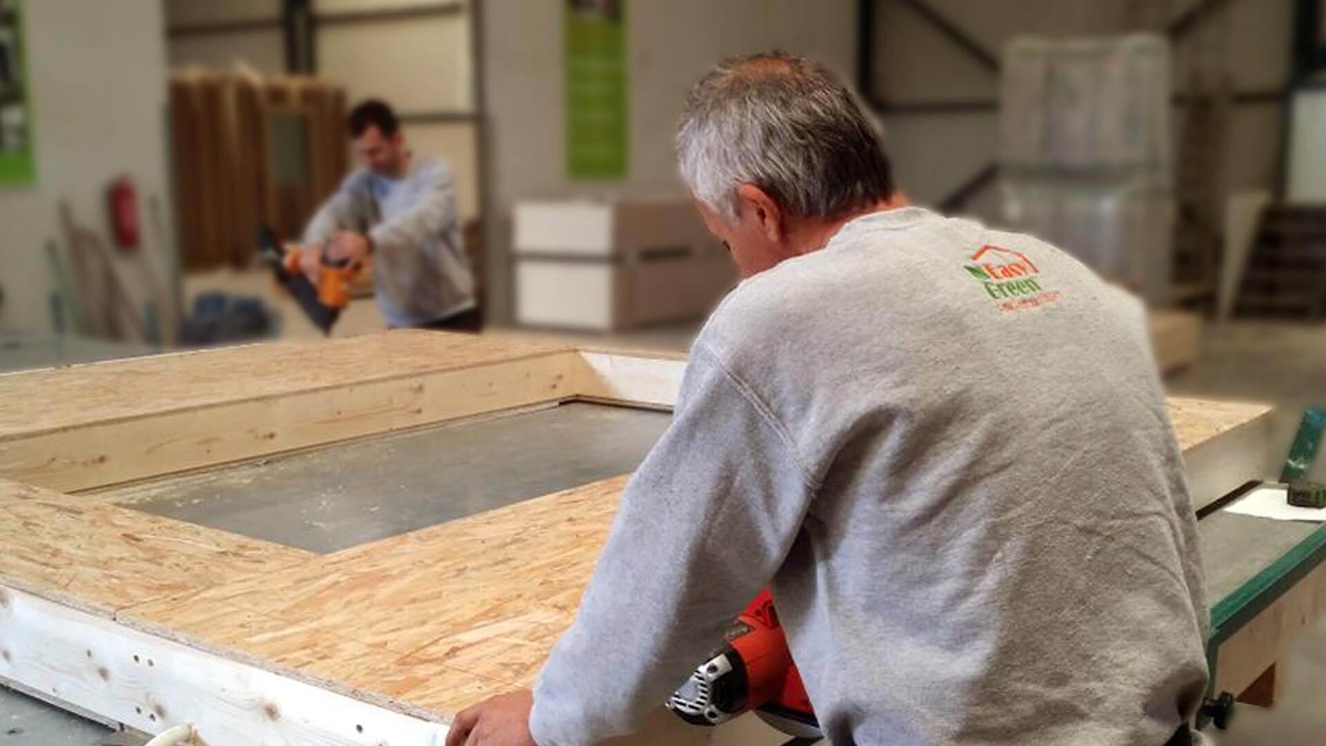 prokat, προκάτ, προκατασκευασμένο σπίτι, easy green, κατασκευή , ξύλινο, σπίτι, εργοστάσιο